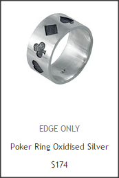 Men's simple ring