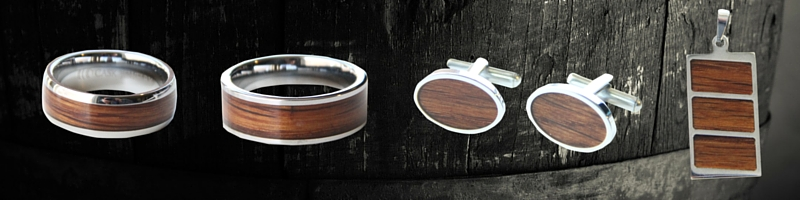 Men's unique wood jewelry