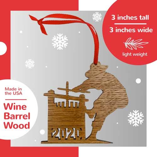 2020 Wine Barrel Ornaments