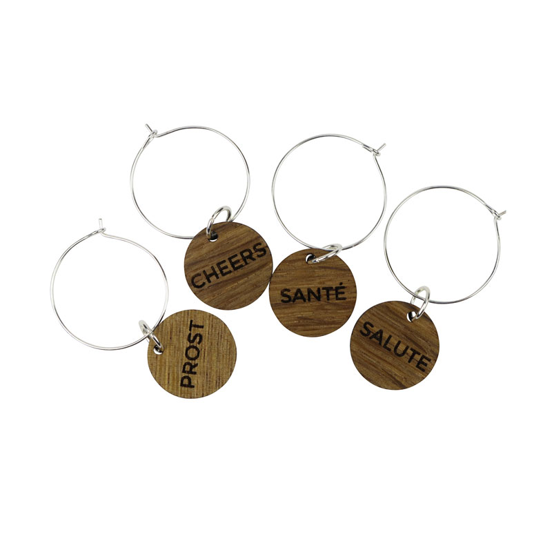 Wine Charms - Cheers, Sante, Prost, Salute