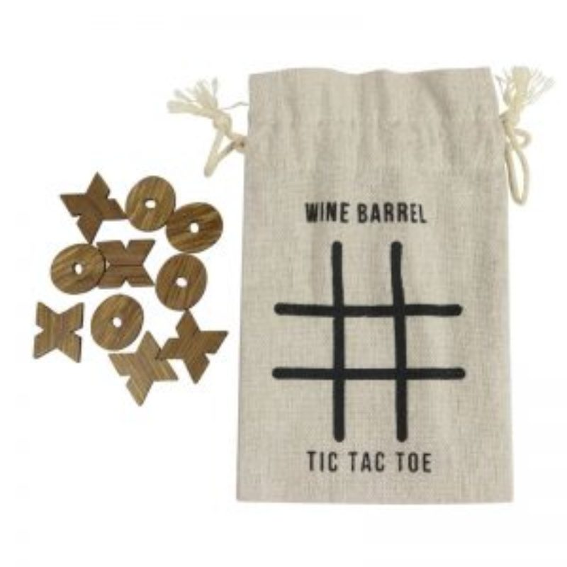 Wine Barrel Tic Tac Toe